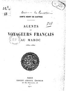 Agents et voyageurs Français au Maroc