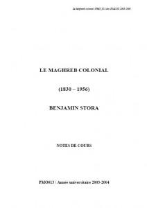 Le maghreb coloniel